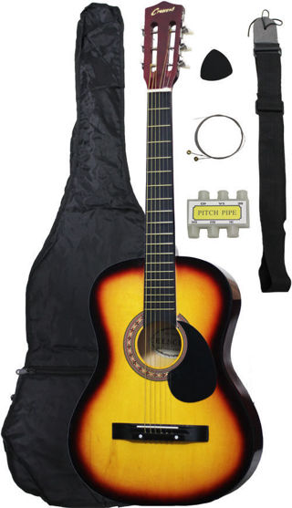 Brand new! FREE!! Brand New!! Acoustic Guitar +GIGBAG+STRAP+TUNER+LESSON  low gin!