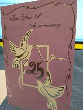FOR YOUR 25TH SILVER ANNIVERSARY CARD W// ENVELOPE