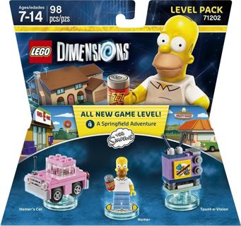 free 1 new pack the simpsons homer simpson car tv lego toys legos