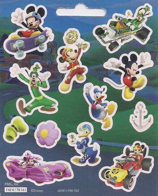 Brand New Sheet Of Mickey Mouse & Friends Stickers
