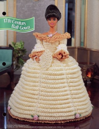 Free Barbie Crochet Pattern 17th Century Ball Gown Crochet