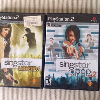 PS2 SingStar Legends and Pop vol2 for PlayStation 2