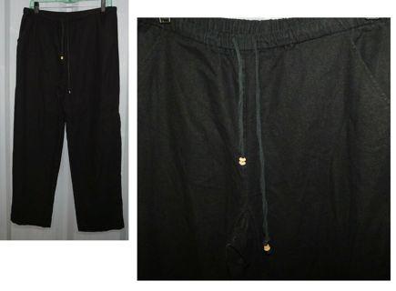 $59 Alfred Dunner Black Wide Leg Slacks Pants LIKE NEW Bottoms Size 12