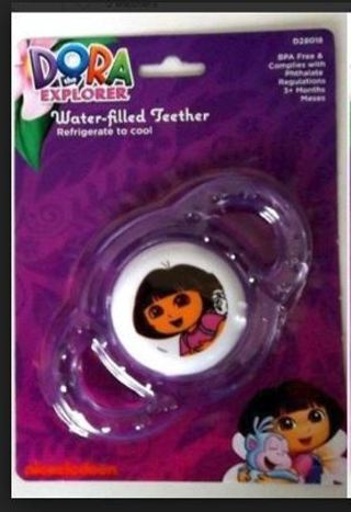 1 NEW Dora the Explorer Water-filled Teether Rattle Teething Toys BPA-Free