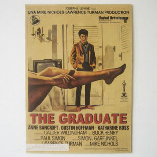 The Graduate Movie Poster Classic Retro Kraft Paper Room Cafe Decor Poster