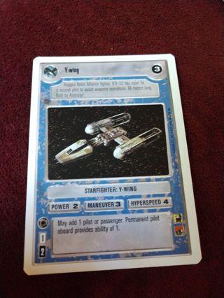Star Wars card - Y-wing