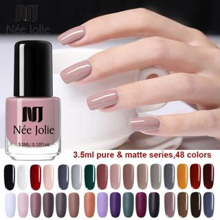 NEE JOLIE 3.5ml Nail Polish Fast Dry Pure Color Series Nail Art Polish Matte Nail Lacquer Varnish