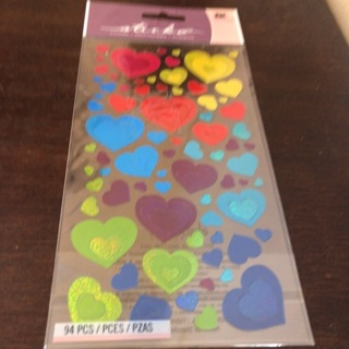 Sticko heart stickers