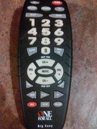 Free One For All Big Easy Universal Remote Urc 3300b02 Easy Setup