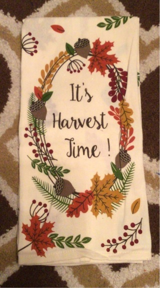 It's Harvest Time Dish Towel New