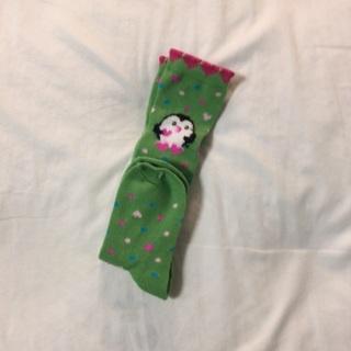 Girls Pair Of Penguin Heart Socks