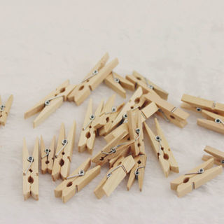50 PCs Wood Clothespins Wooden Laundry Clothes Pins Photo Paper Peg DIY Clip New
