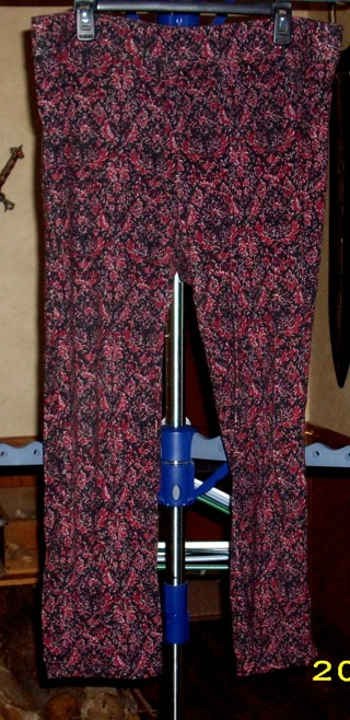 Cato (XL) ... Black w/ Burgundy Casual Pants