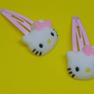 Hello Kitty hair Pins, pink white 2X New cute free ship