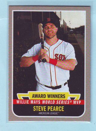 2019 Topps Heritage High Number Steve Pearce Willie Mays WS MVP Card # AW-7 Red Sox