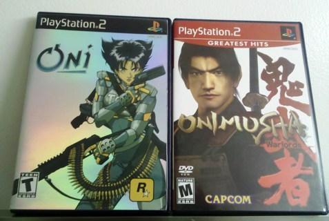 ONi  & Onimusha WARLORDS  PlayStation 2