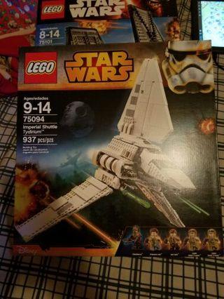 Star Wars lego set 75094 imperial shuttle tydirium new in box