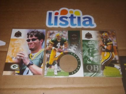 HALL OF FAME QB⭐BRETT FAVRE⭐3 CARDS⭐1998 PINNACLE ⭐FREE $HIPPING