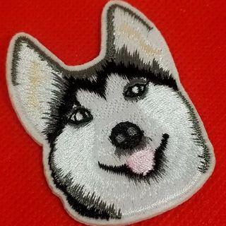 Husky dog iron on small patch New free ship