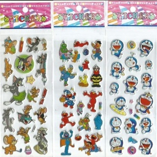 PUFFY project Stickers TOM JERRY Elmo anime kids boys girls Vibrant Detailed