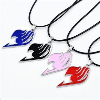 Fairy Tail Natsu Dragneel Guild Pendant Black Cord Necklace Anime Symbol