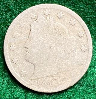 1894 (Better date) Liberty V Nickel -acid date-