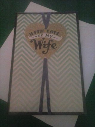 new with love to my wife card