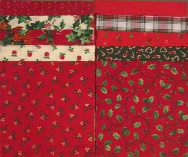 40 Fabric Charm Squares - Set #8 - Christmas