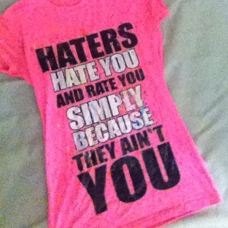 Free Rue 21 Haters Shirt Glow In The Dark Splatter Painted Girls