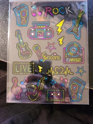 Shiney Rock & Roll Stickers