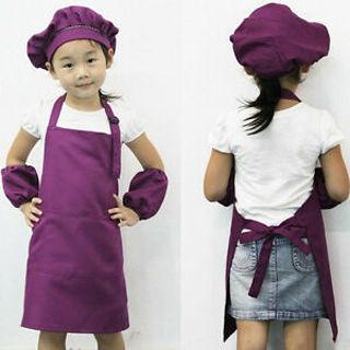 Cute Apron Art Cooking Craft Bib Kitchen Baking Painting Apron Kids Children