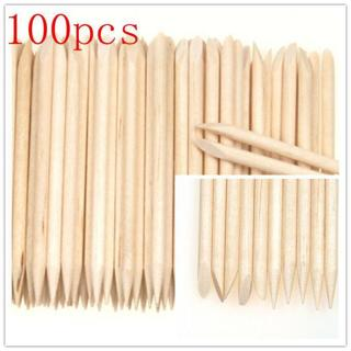 100X Nail Art Orange Wood Stick Cuticle Pusher Remover Pedicure Manicure Tool