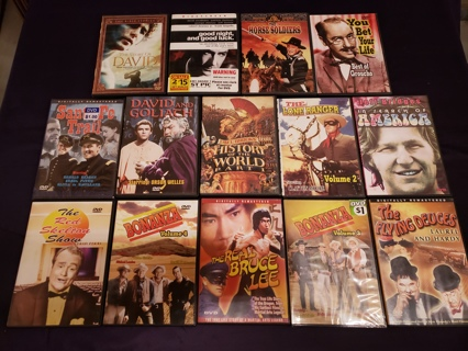 Huge Lot of 14 Classical New & Used DVD Movies - Old Flicks