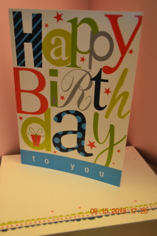****COLORFUL BIRTHDAY CARD W/MATCHING ENVELOPE***FREE SHIPPING