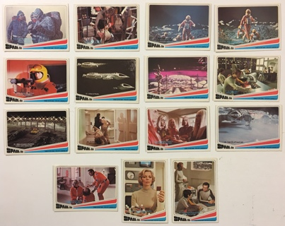 Vintage 1976 Donruss Space: 1999 TV Show Non-Sports Trading Cards Lot of 15