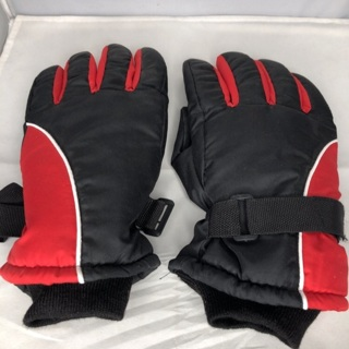 Men's winter gloves red black size Large