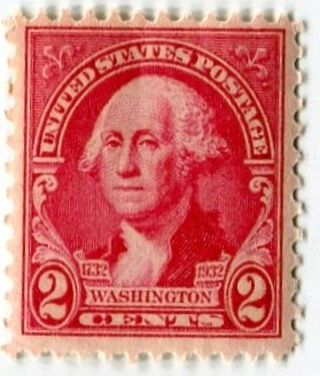 FREE United States Postage Stamp MNH 2 Cent George Washington Red Issued 1932