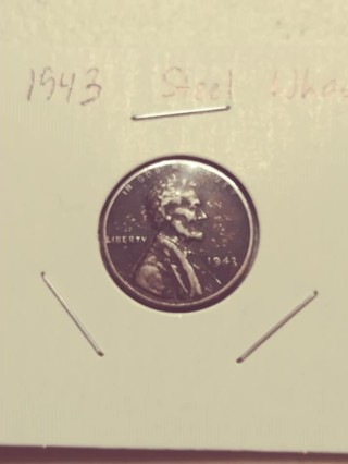 1943 Steel Lincoln Wheat Penny! 101
