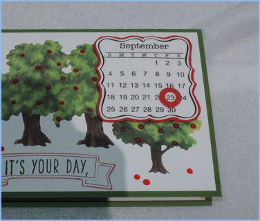 September Birthday Card - handmade