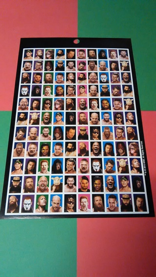 WWE Superstars - Sheet of 110 Stickers!!!