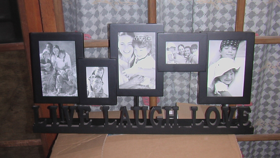 Free Live Laugh Love Standup Picture Collage Frame Home Decor