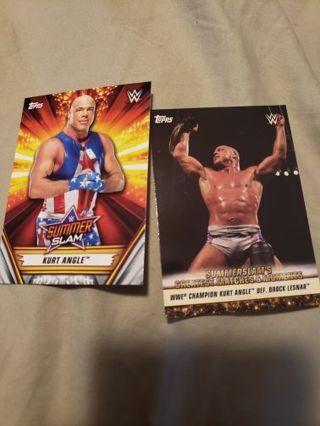 Kurt Angle 2 card wwe lot