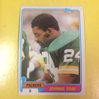 1981 Topps #465 S Johnnie Gray - Packers