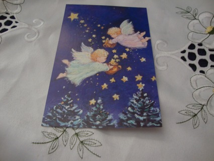 Angels & Stars ~ Vintage Style Postcard ~ Free Shipping