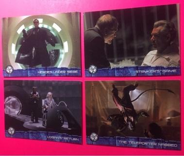 4 Marvel X Men movie cards! 2003!