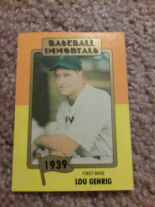 Free Baseball Immortalsyankee Lou Gehrig 1939in A