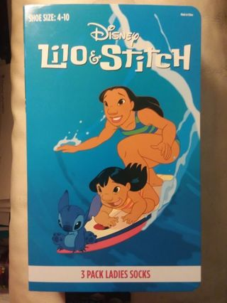 Disney Lilo And Stitch Pack of 3 Ladies Socks Shoe Size 4 thru 10