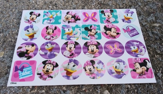 MINNIE MOUSE AND DAISY DUCK STICKERS 6 SHEETS AS SHOWN IN THE PICTURES