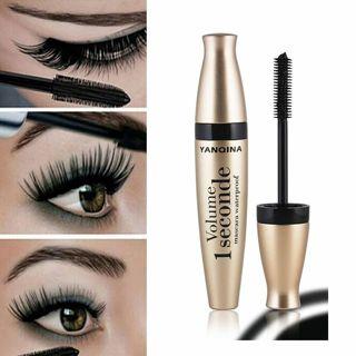 Woman Waterproof Makeup 3D Fiber Curling Eyelash Mascara Extension Black