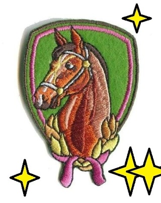 1 new IRON ON PATCH HORSE PONY Applique embroidered Accessories